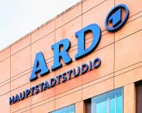 公开播报员德国公共广播联盟onsortium办公楼在Berli 库存照片