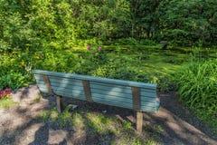 公开木长凳 库存图片