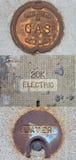 公开气体,电,水公共事业例证 向量例证