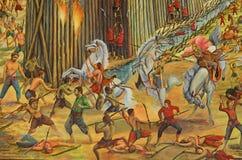 公开泰国艺术绘画 免版税库存照片