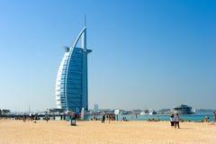 公开海滩迪拜 免版税图库摄影