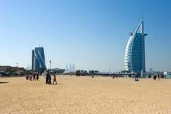 公开海滩迪拜 免版税库存图片