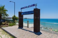 公开海滩在阿夫萨拉尔 免版税库存图片