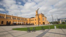 公开火车站的看法在弗罗茨瓦夫 库存图片