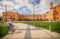 公开火车站的看法在弗罗茨瓦夫 免版税库存图片