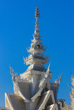 公开白色寺庙有清楚的天空背景 图库摄影