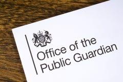 公开监护人办公室 免版税库存照片
