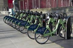 公开街道自行车租务西雅图 图库摄影