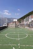 公开运动场在市Perast 免版税图库摄影
