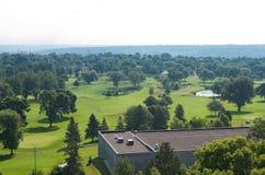 公开高尔夫球场在高地公园 库存照片