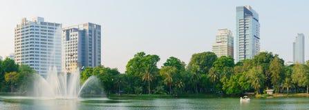 公开Lumpini公园曼谷,泰国 免版税库存图片