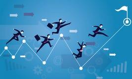 公文包企业生意人竞争概念运行中 对成功的种族 库存例证