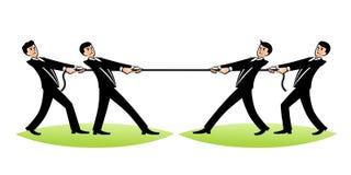 公文包企业生意人竞争概念运行中 免版税库存图片