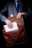 公文包企业间谍 免版税库存照片