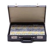 公文包充分的货币 免版税库存照片