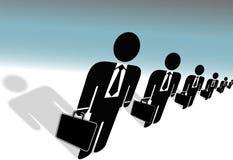 公文包商人准备诉讼符号工作 向量例证