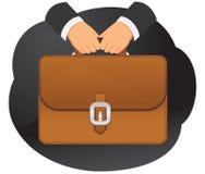 公文包在手上 免版税库存照片