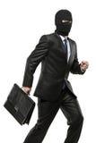 公文包运载的人屏蔽盗案 免版税图库摄影