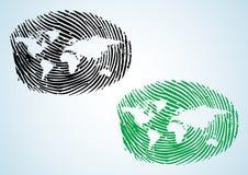 公民全球映射世界 库存照片
