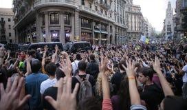 公民投票在巴塞罗那 图库摄影