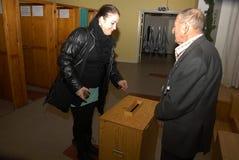 公民投票天_YES_JA或NO_NEJ决定 免版税图库摄影