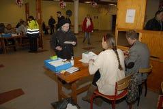 公民投票天_YES_JA或NO_NEJ决定 图库摄影