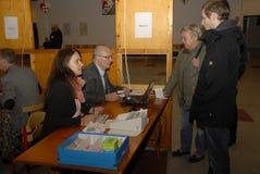 公民投票天_YES_JA或NO_NEJ决定 库存图片