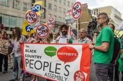 公民集会抗议者,伦敦 图库摄影
