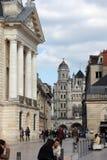 公爵的宫殿和教会St米谢尔在第茂,法国 库存图片