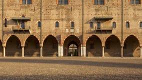 公爵的宫殿在mantua城市 库存图片