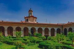公爵的宫殿的内在庭院和庭院在曼图亚,意大利 免版税库存图片