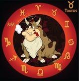 公牛动画片签署黄道带 皇族释放例证