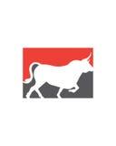 公牛摘要传染媒介2业务保险摘要 库存照片