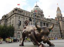公牛障壁上海 免版税图库摄影