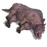 公猪幻想巨大的象牙 皇族释放例证
