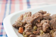 公猪炖煮的食物 免版税库存图片