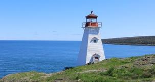 公猪` s头灯塔在新斯科舍,加拿大4K 股票视频