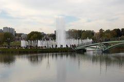 公用喷泉音乐tsaritsino视图 免版税库存照片