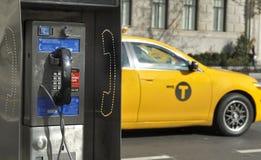 公用电话在纽约 图库摄影