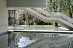 公立图书馆Florbela Espanca马托西纽什葡萄牙 免版税图库摄影