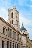 公立高中亨利IV和克洛维钟楼 库存图片