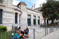 公立高中Massena,尼斯,法国 免版税库存照片