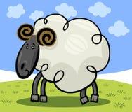 公羊或绵羊的动画片例证 库存图片