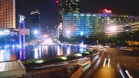 公路交叉点视图在中央雅加达 股票视频