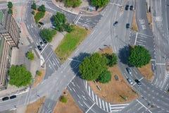公路交叉点 免版税图库摄影