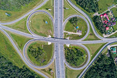 公路交叉点 图库摄影