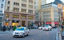 公路交通在马德里,西班牙 图库摄影