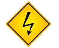 公路符号电压 库存图片