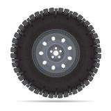 公路车辆轮子 免版税库存图片