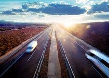 公路运输。 免版税库存照片